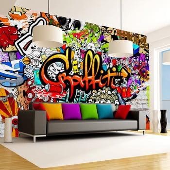 Tapet format mare Bimago Colourful Graffiti, 400 x 280 cm de la Bimago