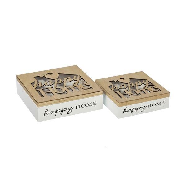 Set 2 cutii depunere Happy Home