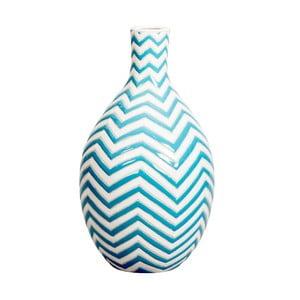 Modrá ručně malovaná váza Kaila