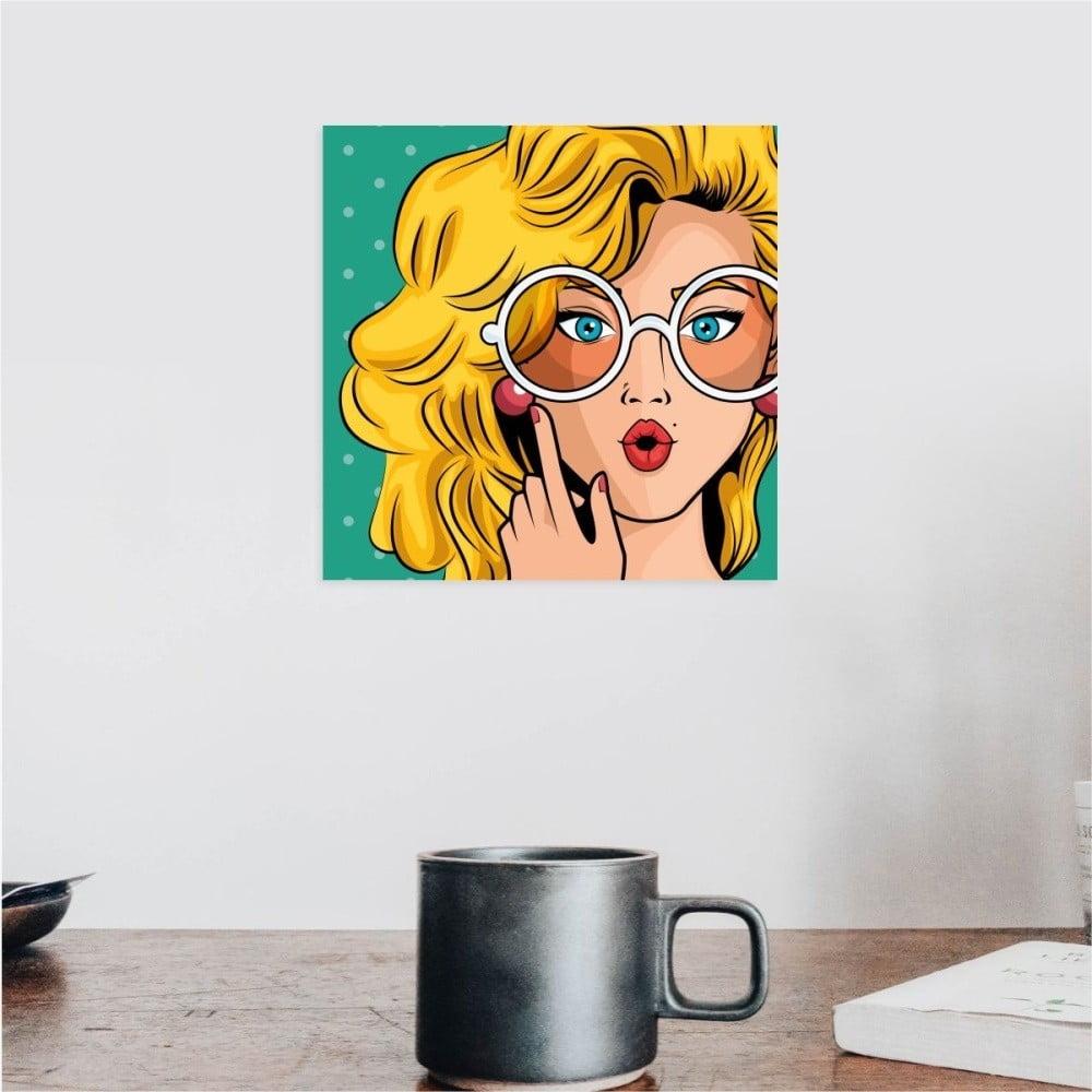Nástěnný samolepicí obraz North Carolina Scandinavian Home Decors Girl V7, 30 x 30 cm