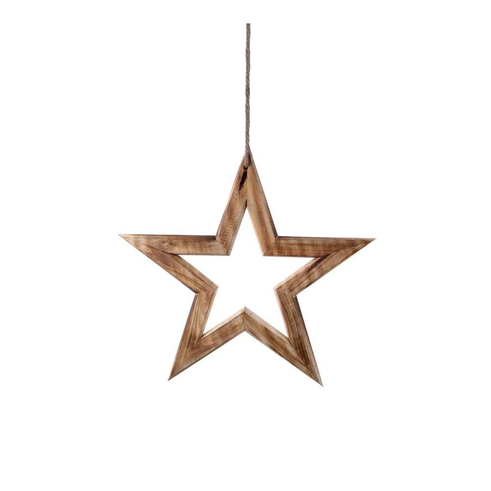 Dřevěná závěsná dekorace Ego Dekor Star, šířka 35 cm