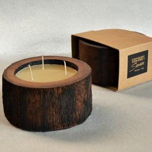 Palmová svíčka Legno Cera s vůní včelího vosku, 40 hodin hoření
