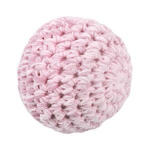 Růžová dětská pletená kulička Sebra Crochet Ball, ⌀ 8 cm
