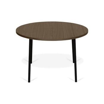 Masă de cafea în decor de lemn de nuc cu picioare negre TemaHome Ply, lățime 70 cm de la TemaHome