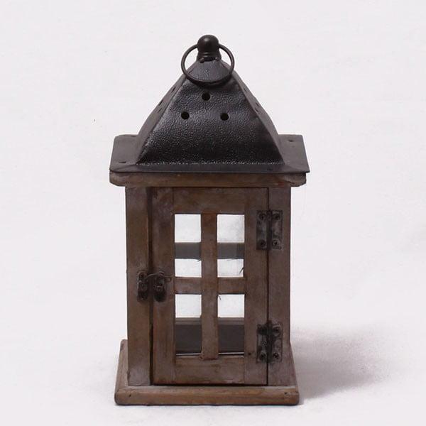 Dřevěná lucerna Vintage