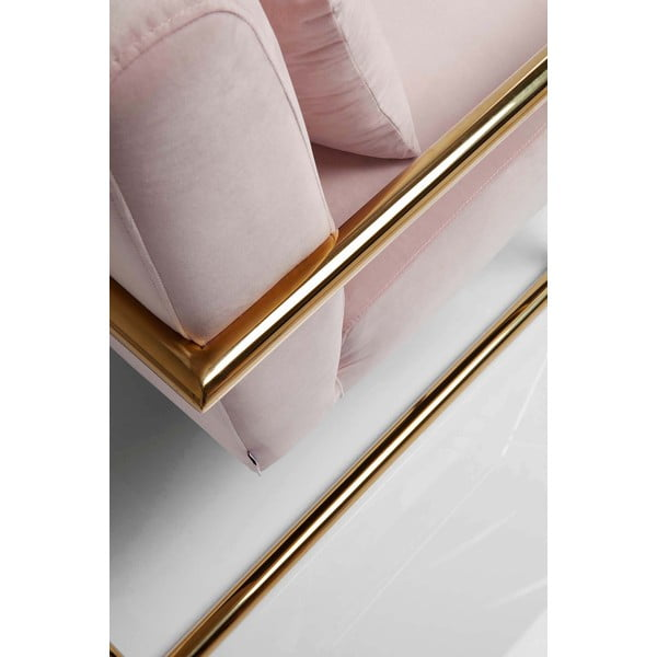 Růžové křeslo Kare Design Living Vegas