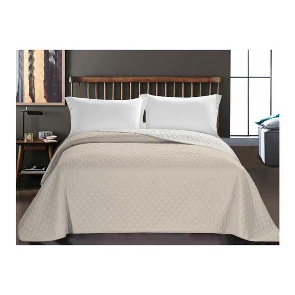 Axel kétoldalas mikroszálas bézs ágytakaró, 260 x 280 cm - DecoKing