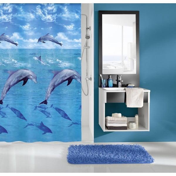 Sprchový závěs Delfin Blue, 180x200 cm