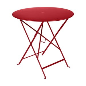 Červený zahradní stolek Fermob Bistro, Ø 77 cm
