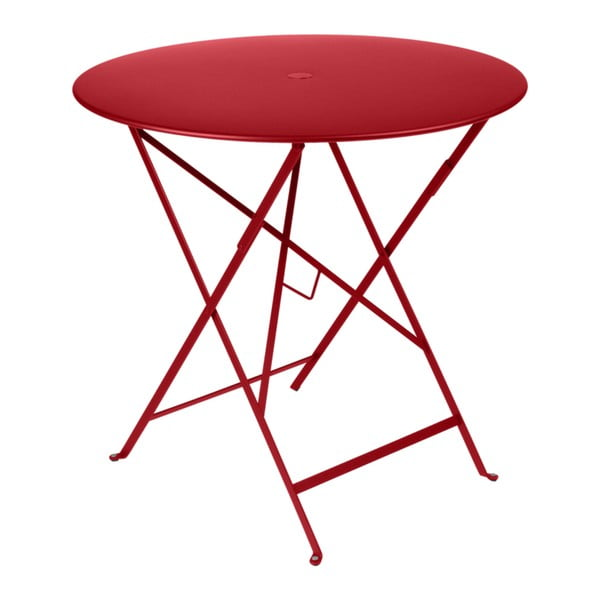 Červený zahradní stolek Fermob Bistro, ⌀ 77 cm