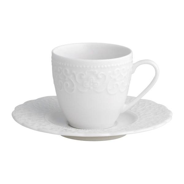 Gran Gala fehér porcelán csésze és csészealj, 70 ml - Brandani
