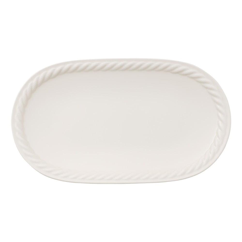 Bílý servírovací talíř Villeroy & Boch Montauk, 28 x 16 cm