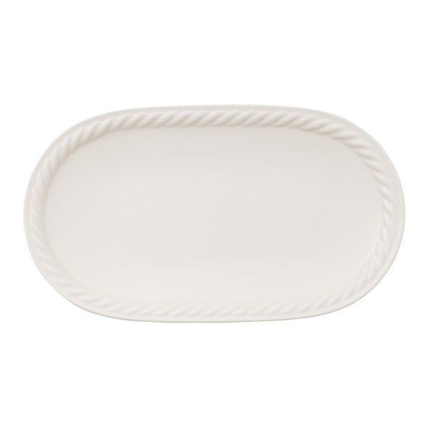 Biely servírovací tanier Villeroy & Boch Montauk, 28 x 16 cm