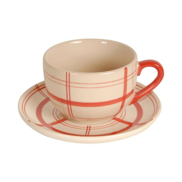 Filiżanka ceramiczna ze spodkiem Antic Line Cup Sharp, ⌀ 14 cm
