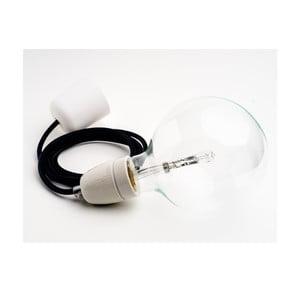 Barevný kabel Loft Ceramic se žárovkou, černý tulipán