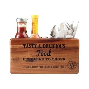 Suport pentru tacâmuri și sosuri T&G Woodware Glorious