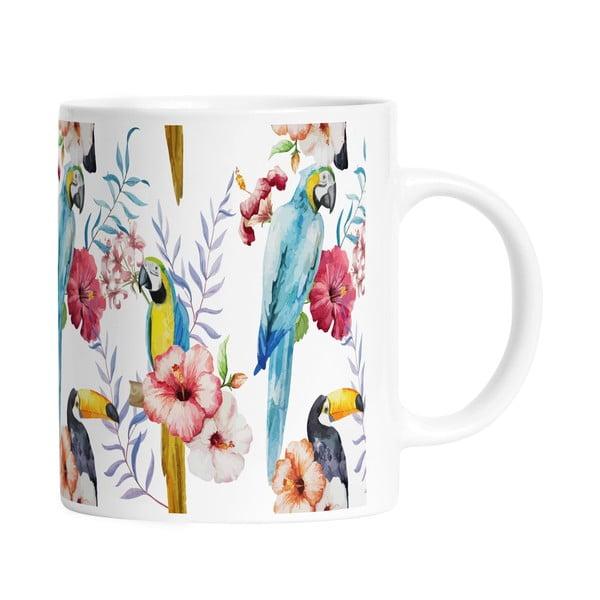 Keramický hrnek Happy Parrots, 330 ml