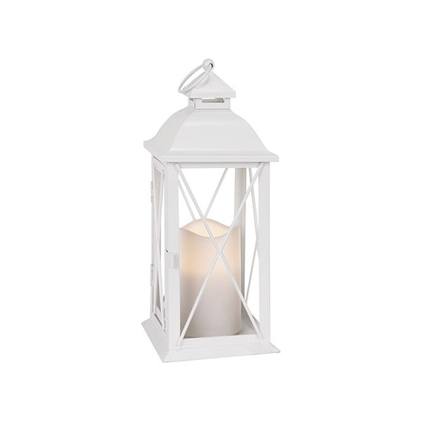 Bílá LED lucerna Best Season Candle, 32 cm