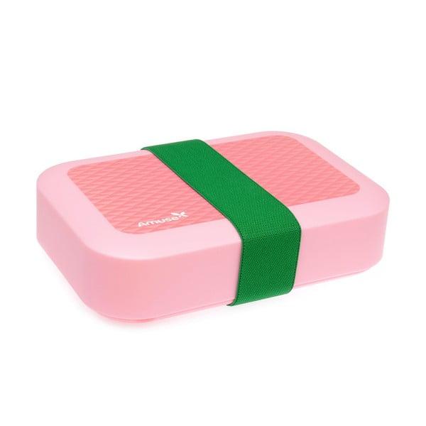Svačinový box Amuse, růžový