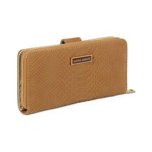 Hořčicově-hnědá peněženka z koženky Laura Ashley Keesey
