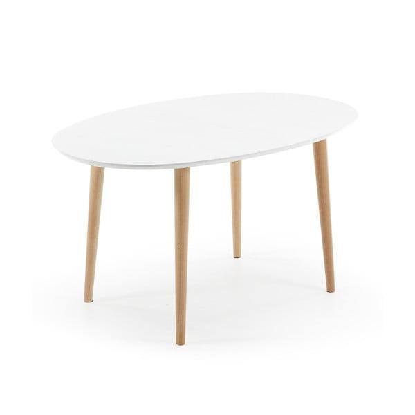 Stół rozkładany do jadalni z drewna bukowego La Forma Oakland, dł.140-220cm