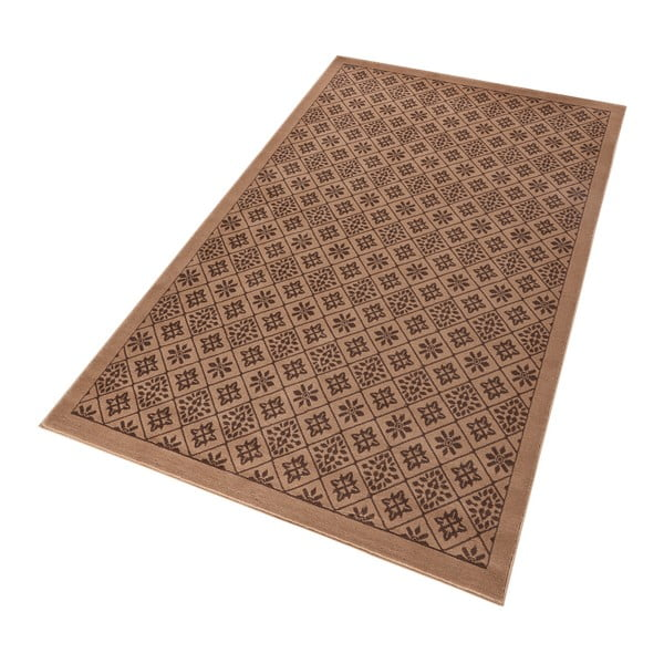 Hnědý koberec Hanse Home Gloria Tile, 120 x 170 cm