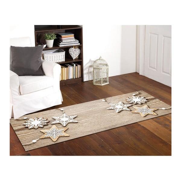 Wytrzymały chodnik Webtappeti Natale Sweet Snowflakes, 60x150 cm