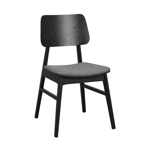 Czarne krzesło z ciemnoszarym siedziskiem Rowico Nagano