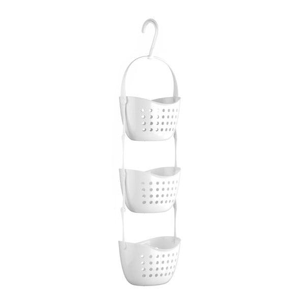 Caddy fehér 3 rekeszes felakasztható fürdőszobai rendszerező - Premier Housewares