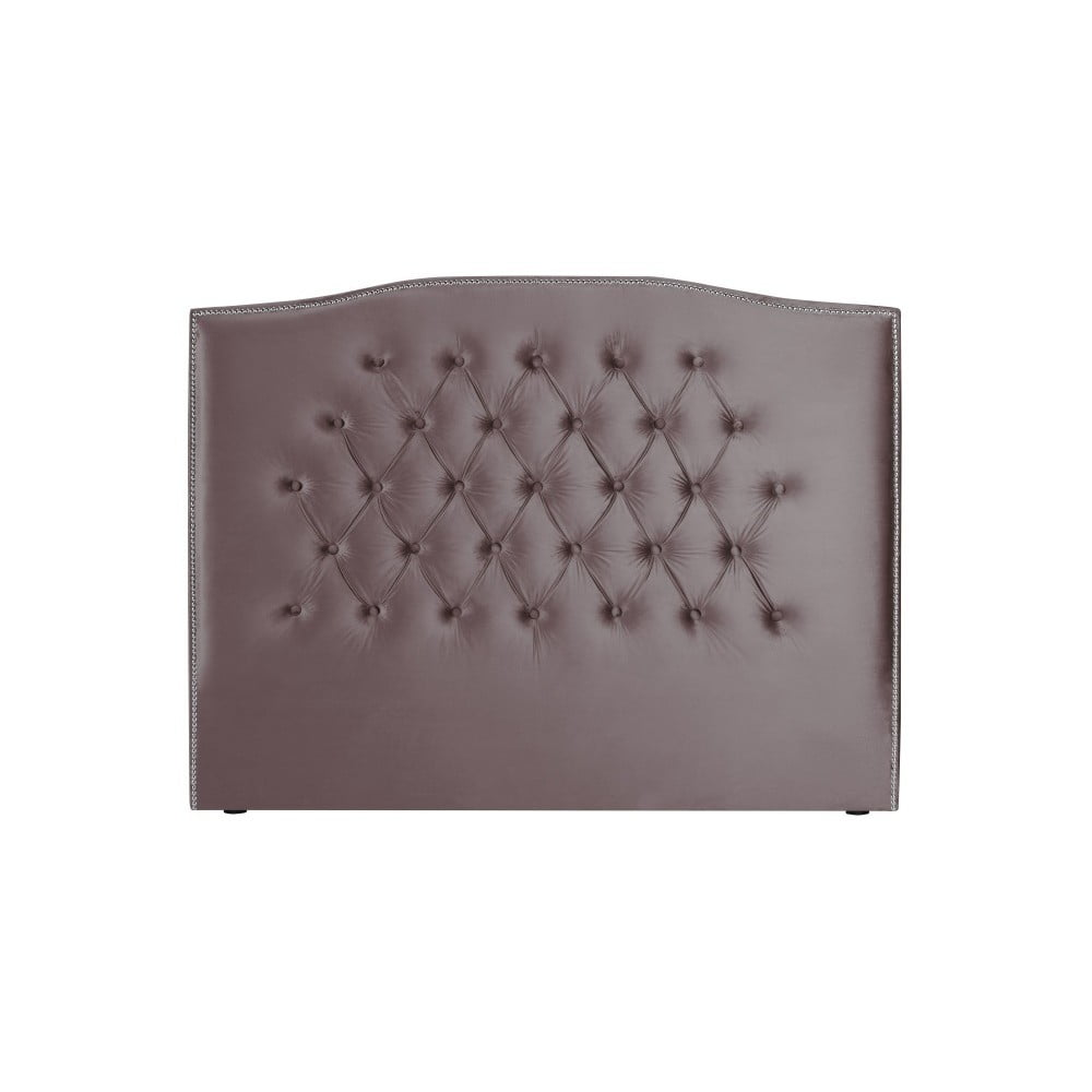 Fialové čelo postele Mazzini Sofas, 160 x 120 cm