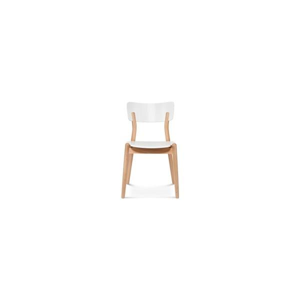 Bílá dřevěná židle Fameg Tyge