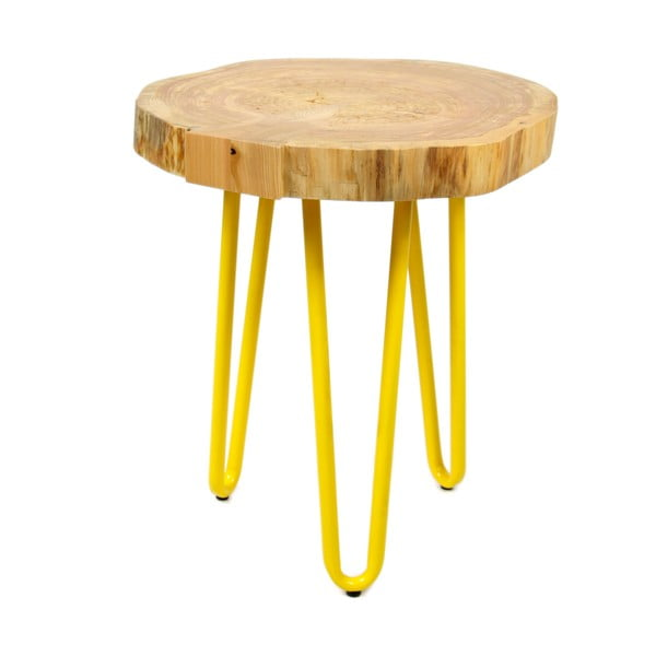 Odkládací stolek Coffee, žlutý