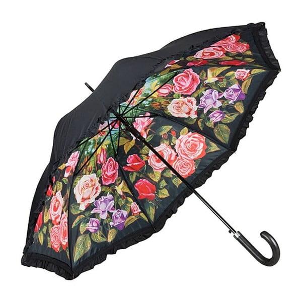 Parasol z podwójną warstwą Von Lilienfeld Rose Garden Double Layer, ø 100 cm