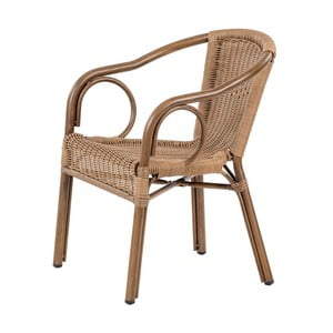 Tmavě hnědá stohovatelná zahradní židle Massive Home Brava
