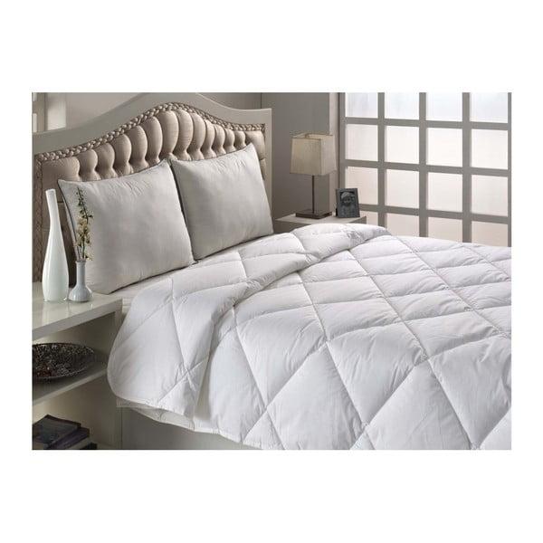Bílá prošívaná přikrývka na jednolůžko Marvella Quilt Single Size, 155 x 200 cm