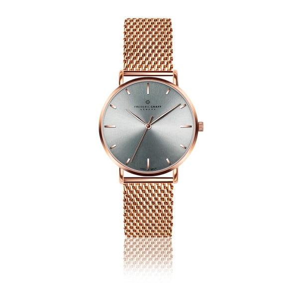 Dámské hodinky s páskem ve růžovozlaté barvě z nerezové oceli Frederic Graff Lusma