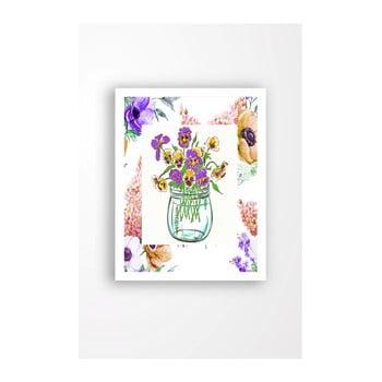 Tablou pe pânză în ramă albă Tablo Center Vase, 29 x 24 cm de la Tablo Center