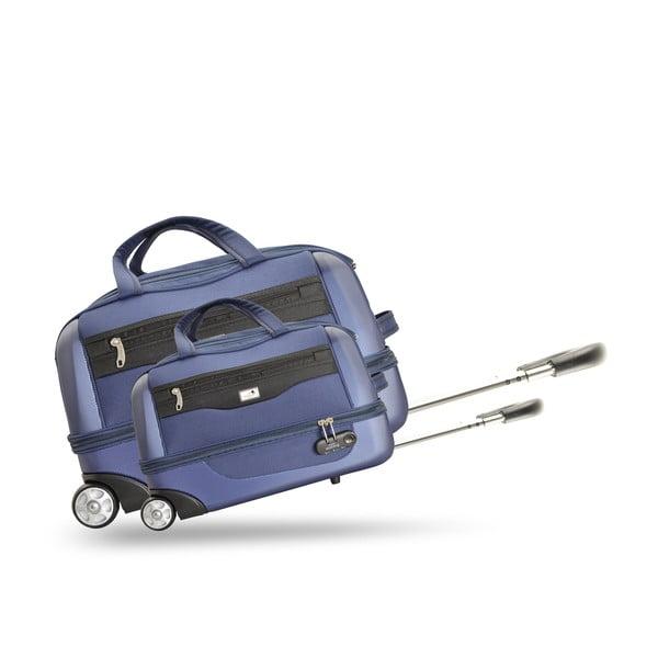 Sada 2 cestovních tašek na kolečkách Roulettes Blue, 111 l/65 l