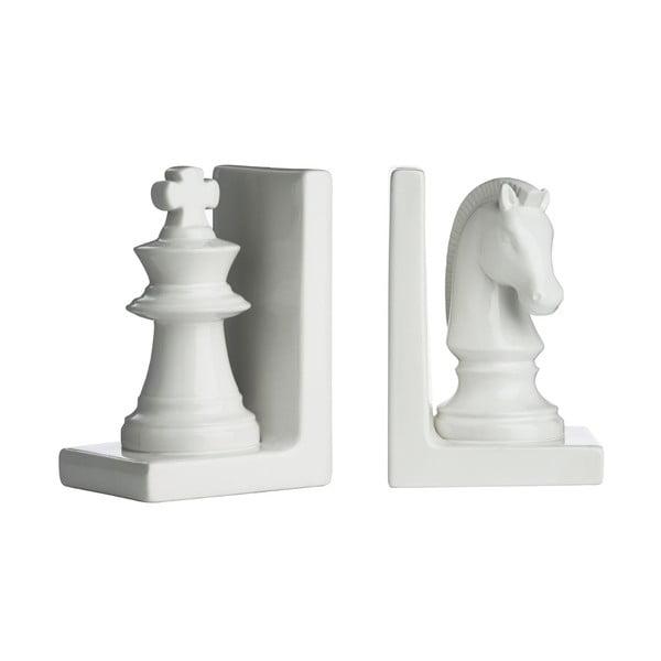 Sada 2 zarážek na knihy White Chess