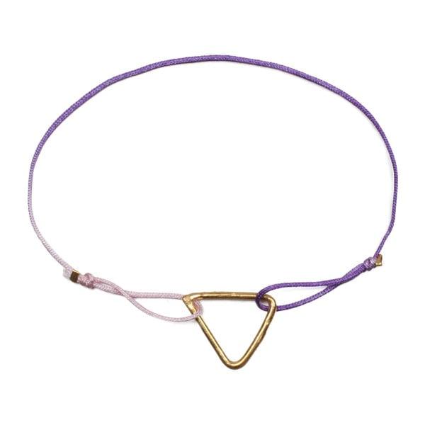 Náramek Pyramid Lilac Ombre