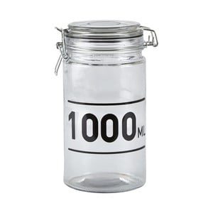 Recipient de sticlă cu capac KJ Collection Jar, 1 l