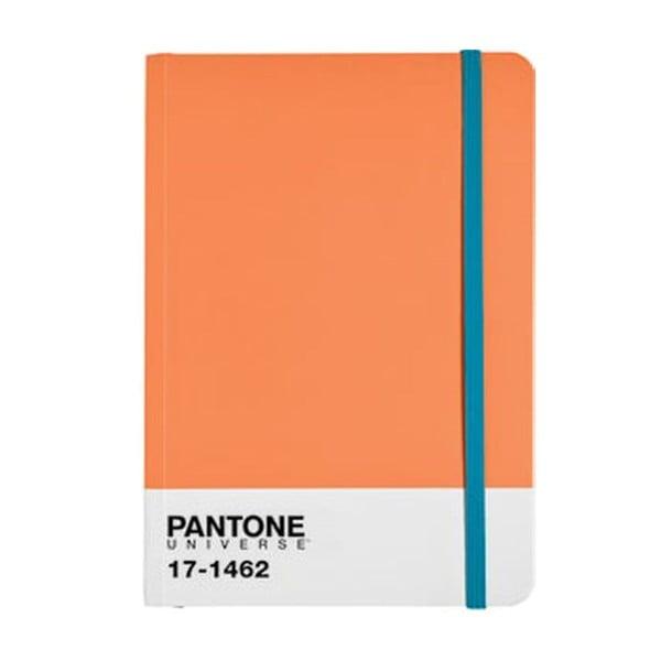 Zápisník A4 s barevnou gumičkou Flame/Blue Jewel 17-1462