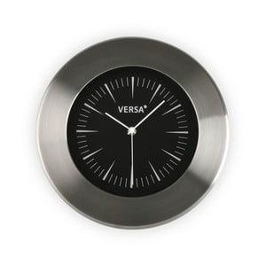 Nástěnné hodiny s černým ciferníkem Versa Alumo, ⌀30,5cm