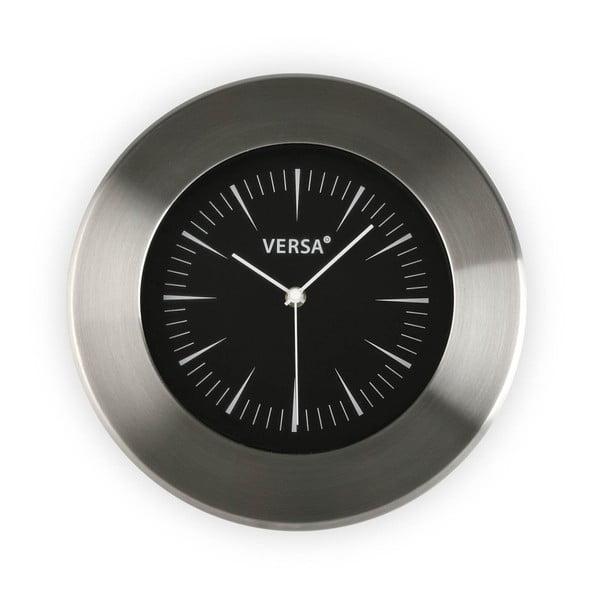 Zegar ścienny z czarnym cyferblatem Versa Alumo, ⌀ 30,5 cm