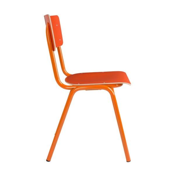 Sada 4  oranžových židlí Zuiver Back to School