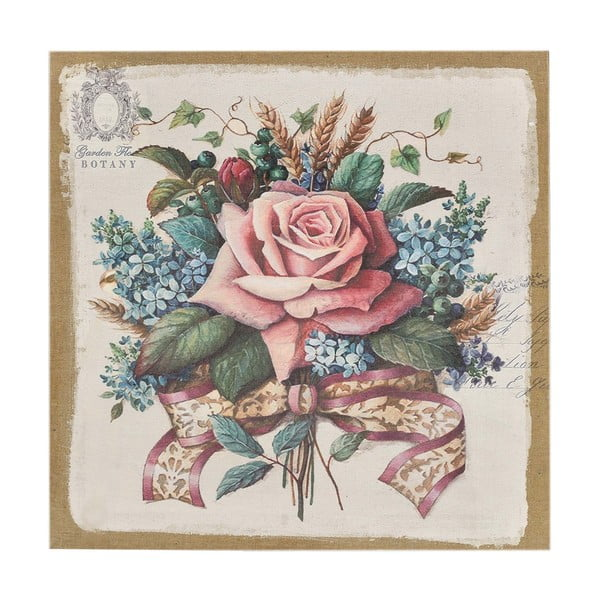 Plátno Flowers Pink, 38x38 cm
