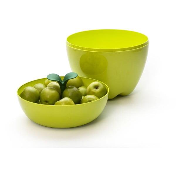 Mísa s poklopem QUALY Mini Happle Container, zelená