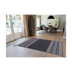 Tmavě šedý ručně vyráběný bavlněný koberec Arte Espina Navarro 2919, 170x230cm