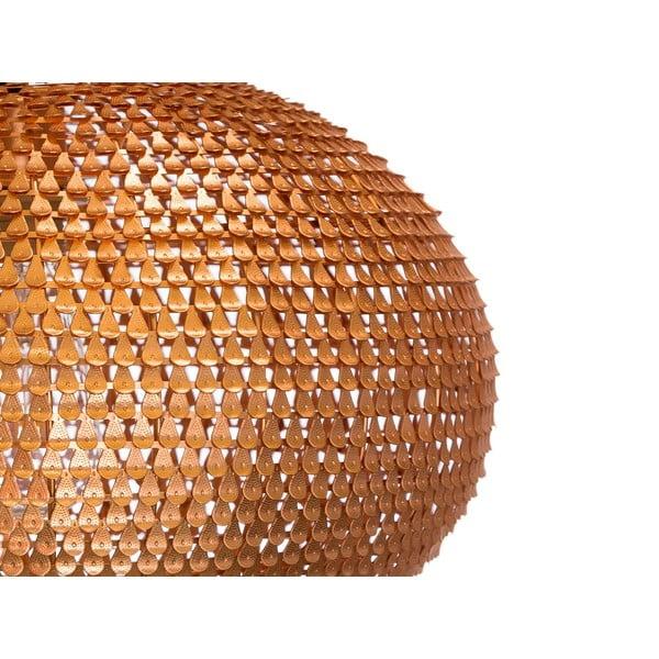 Závěsný lustr Fisura Waves Copper, 40 cm