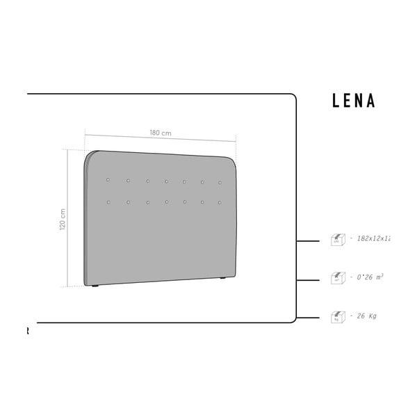 Světle šedé čelo postele HARPER MAISO Lana, 180 x 120 cm